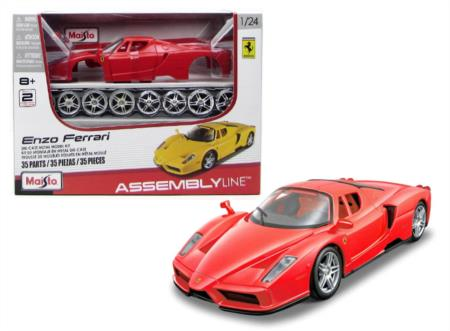 Colors May Vary Maisto 1:24 Scale Assembly Line Ferrari Enzo Diecast Model Kit