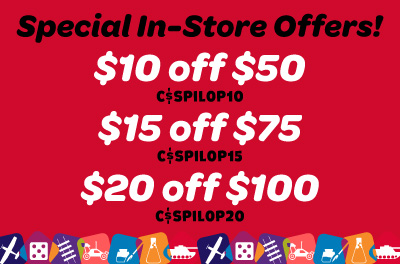 $10 off $50 or $15 off $75 or $20 off $100