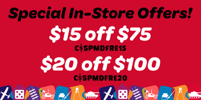 $15 off $75 or $20 off $100